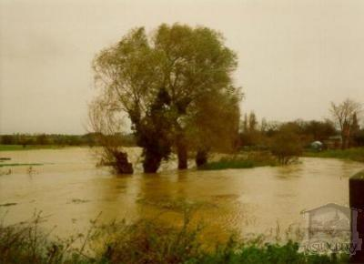 The River in Flood - pre flood defences [148]